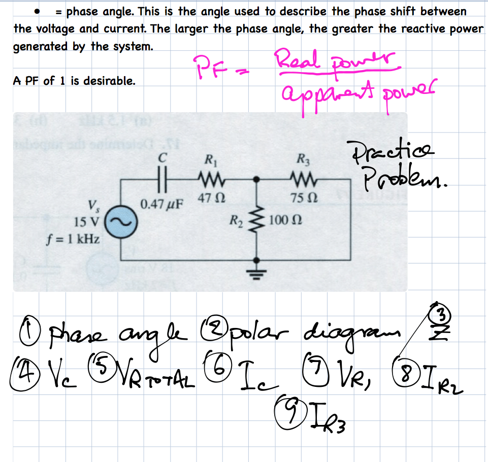 capacitive reactance notes week 4h