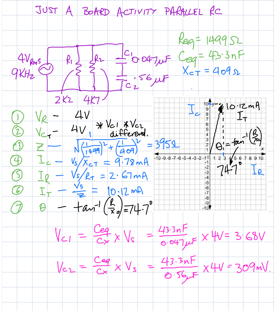 Draw Phasor Diagram Online Parallel Rc Ac Board Activity From W