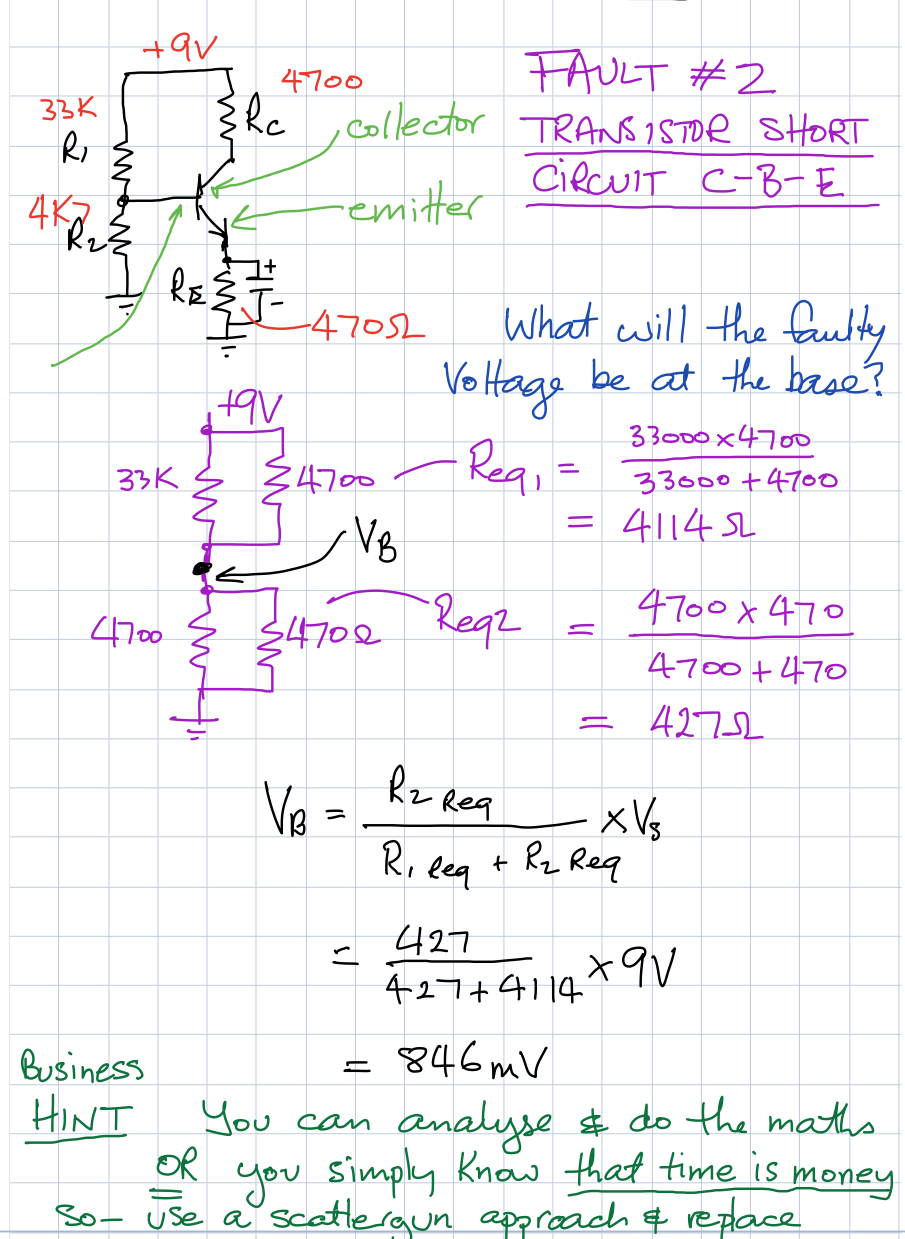 Voltage Divider Ce Amp Faults Ac Circuit Solve Probs Week 14 C