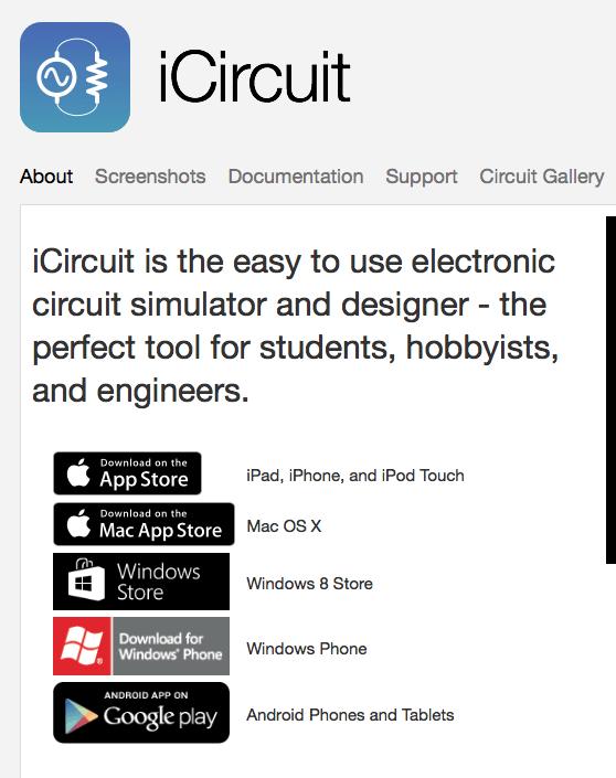 iCircuit simulator