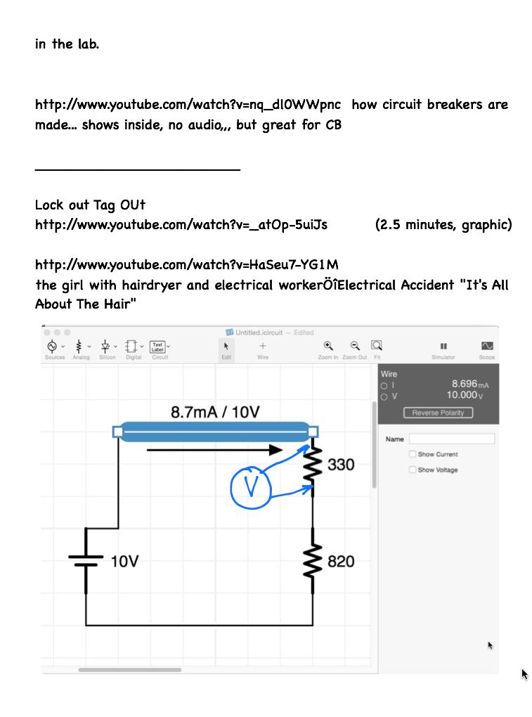 simple series voltage drops