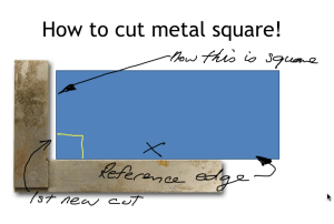 metal square cut