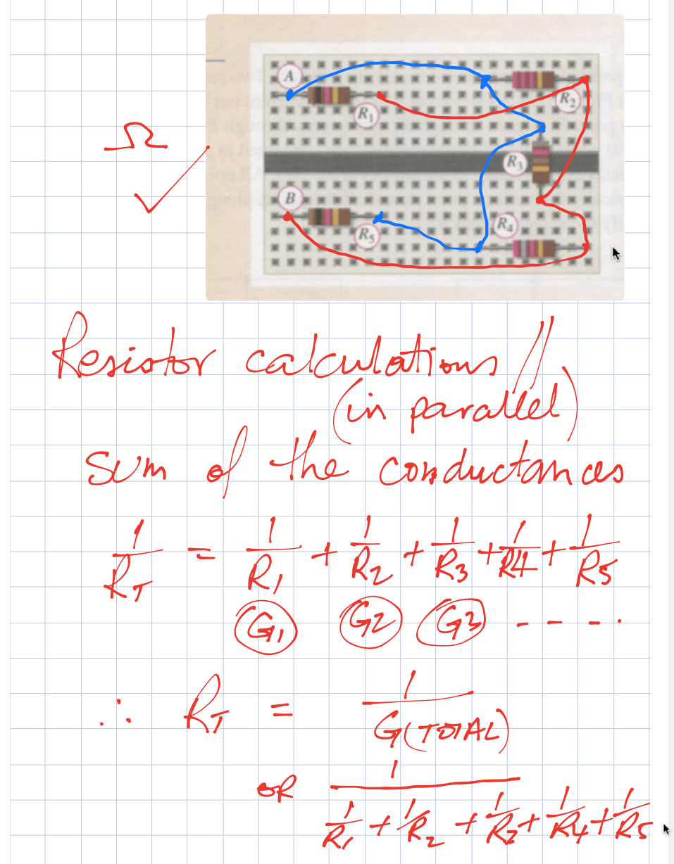 parallel resistor calculations DC
