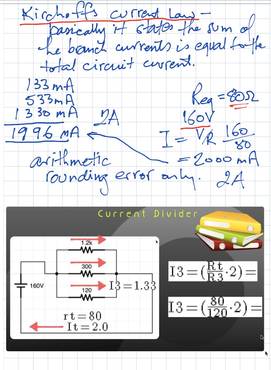 Kirchhoff law DC