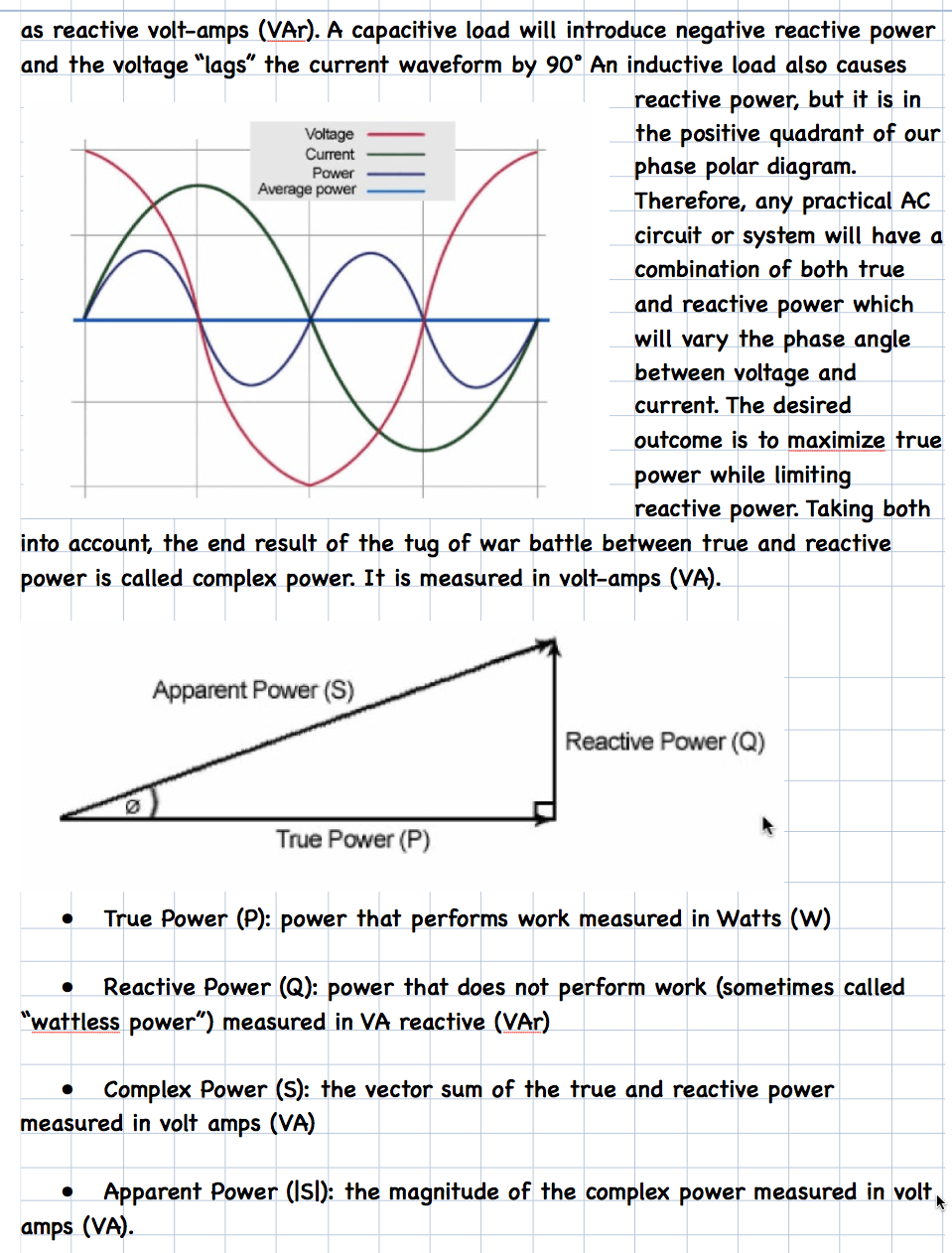 capacitive reactance notes week 4g