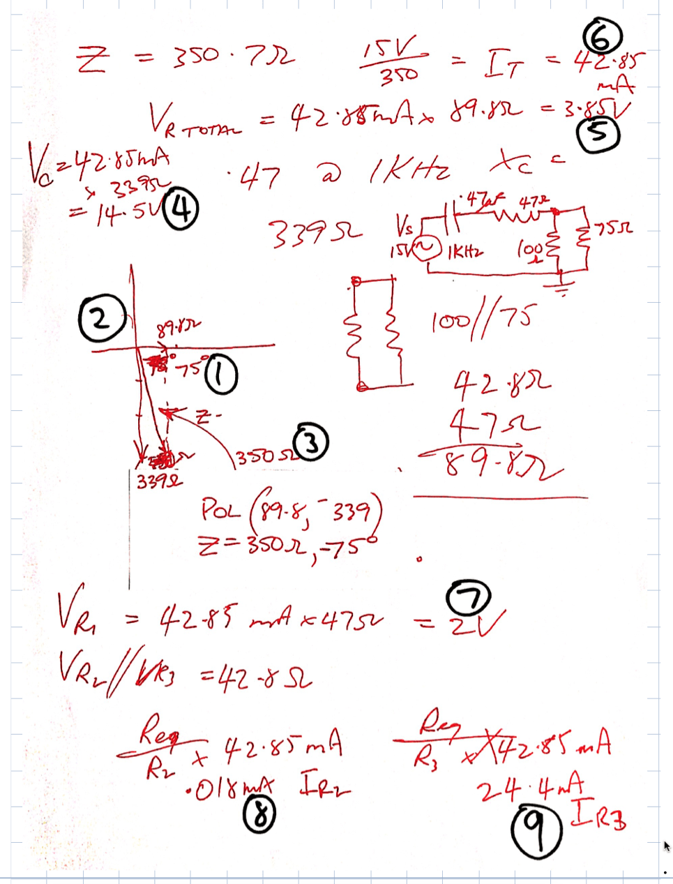 capacitive reactance notes week 4i