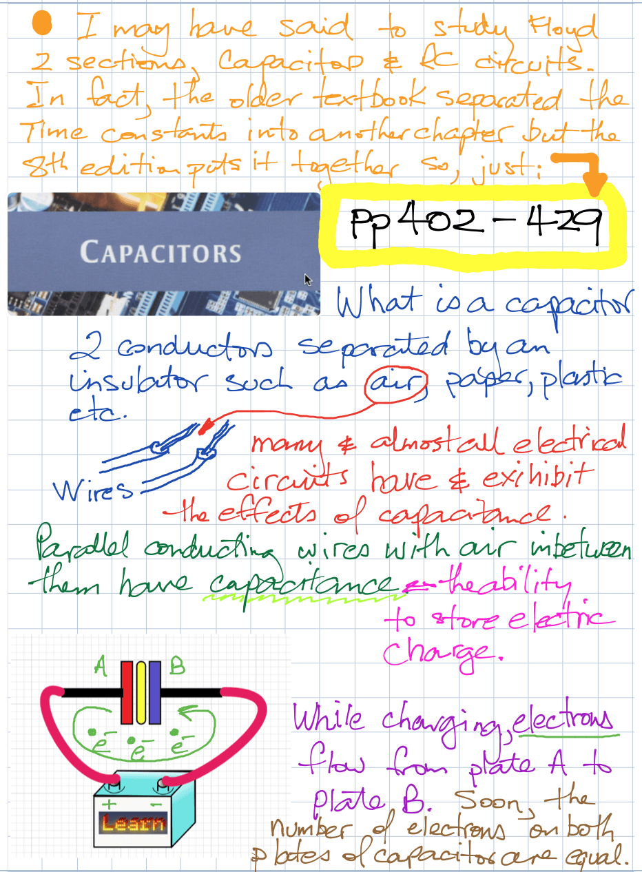 DC week 7 capacitors notes p2
