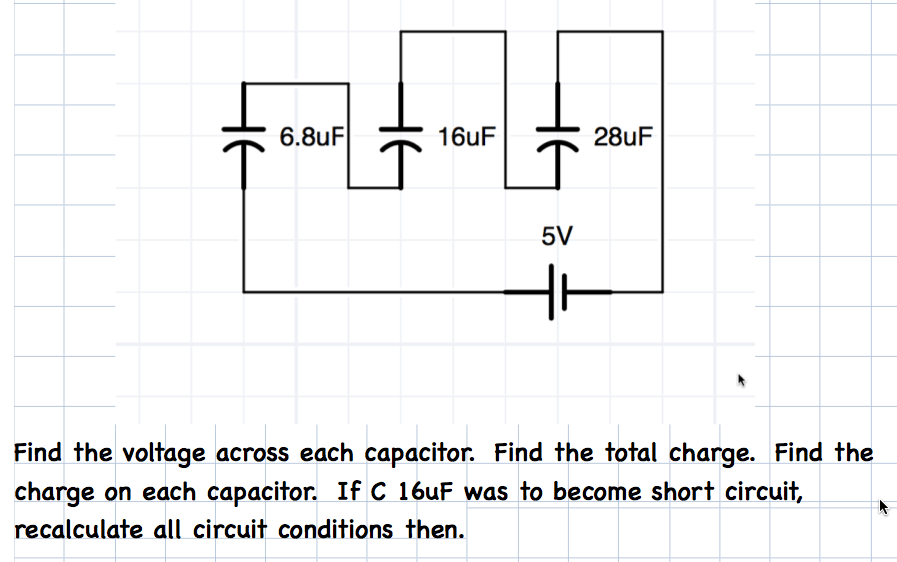 Capacitors in series question for exam