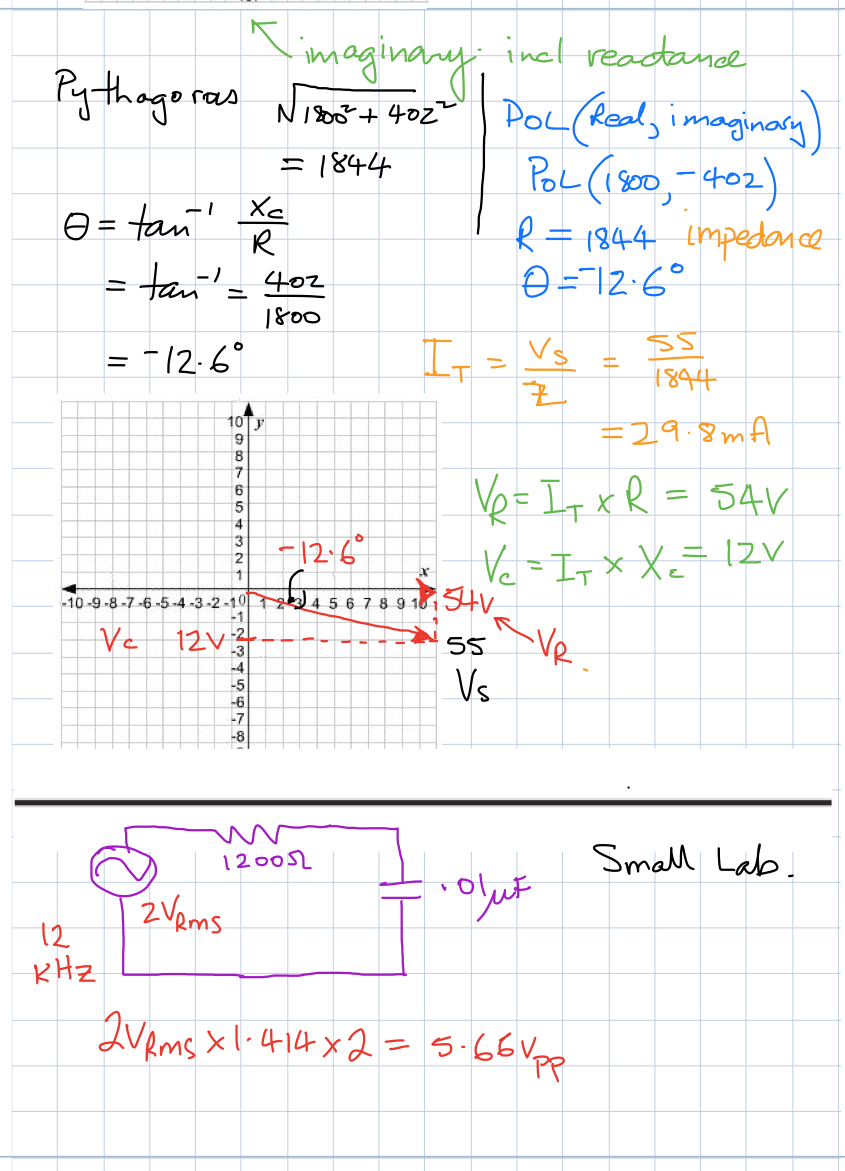 How To Draw A Phasor Diagram Series Resonance In Ac Circuits Tutorial Phasors And Week 1 B