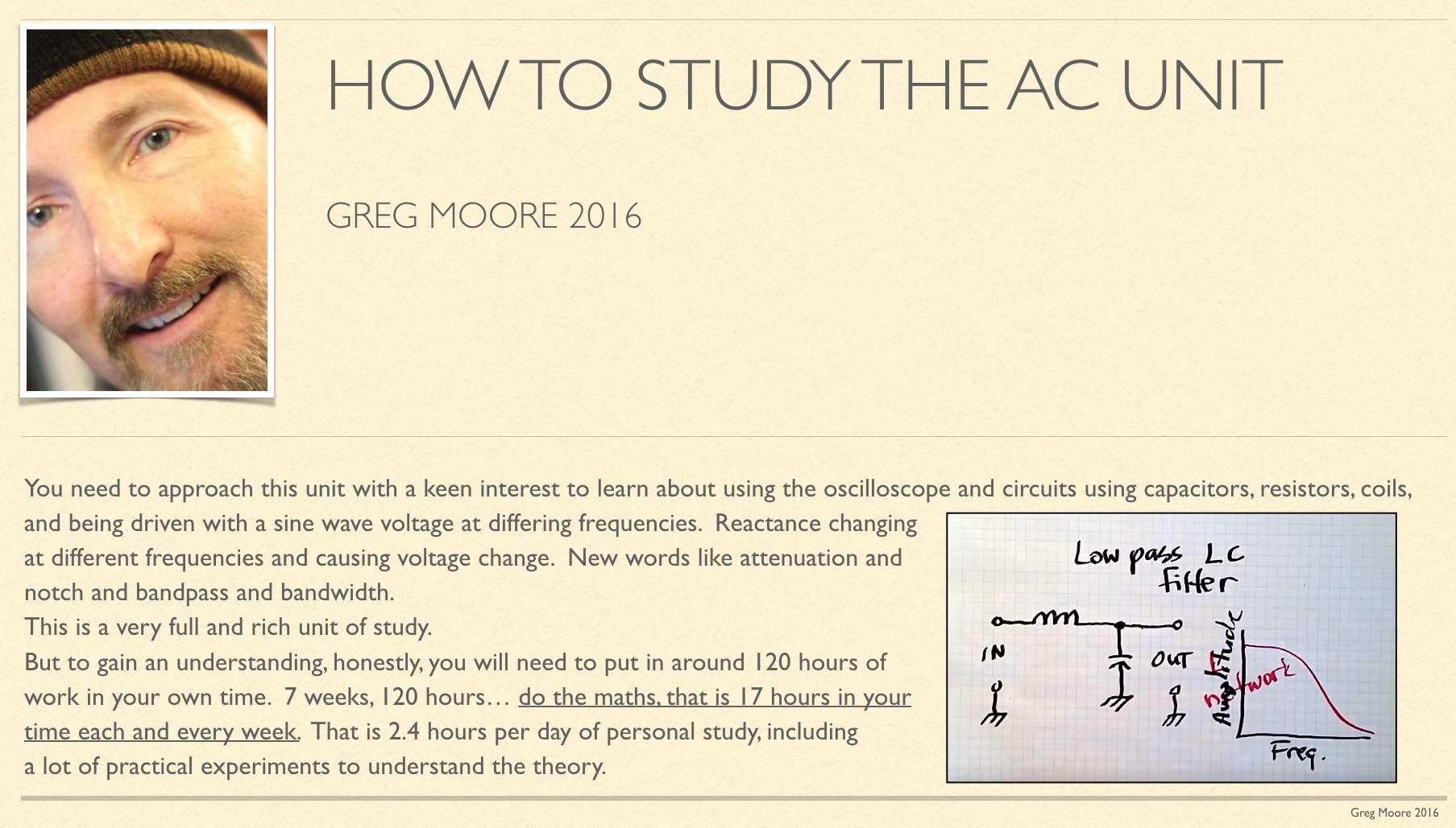 how to study AC