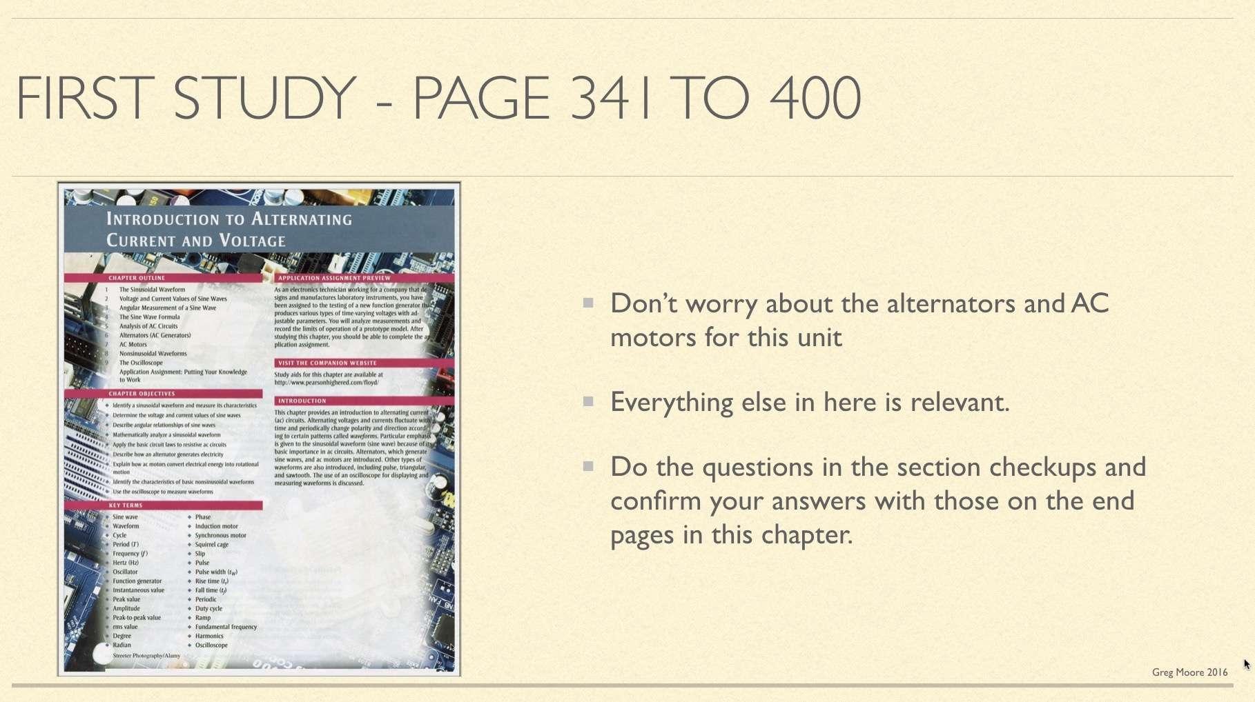 First AC study in book
