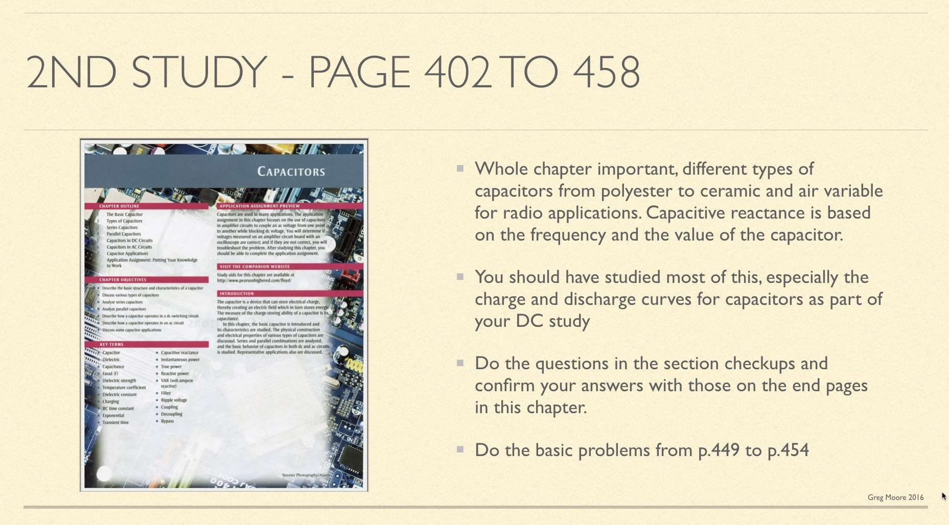 Second AC study in book