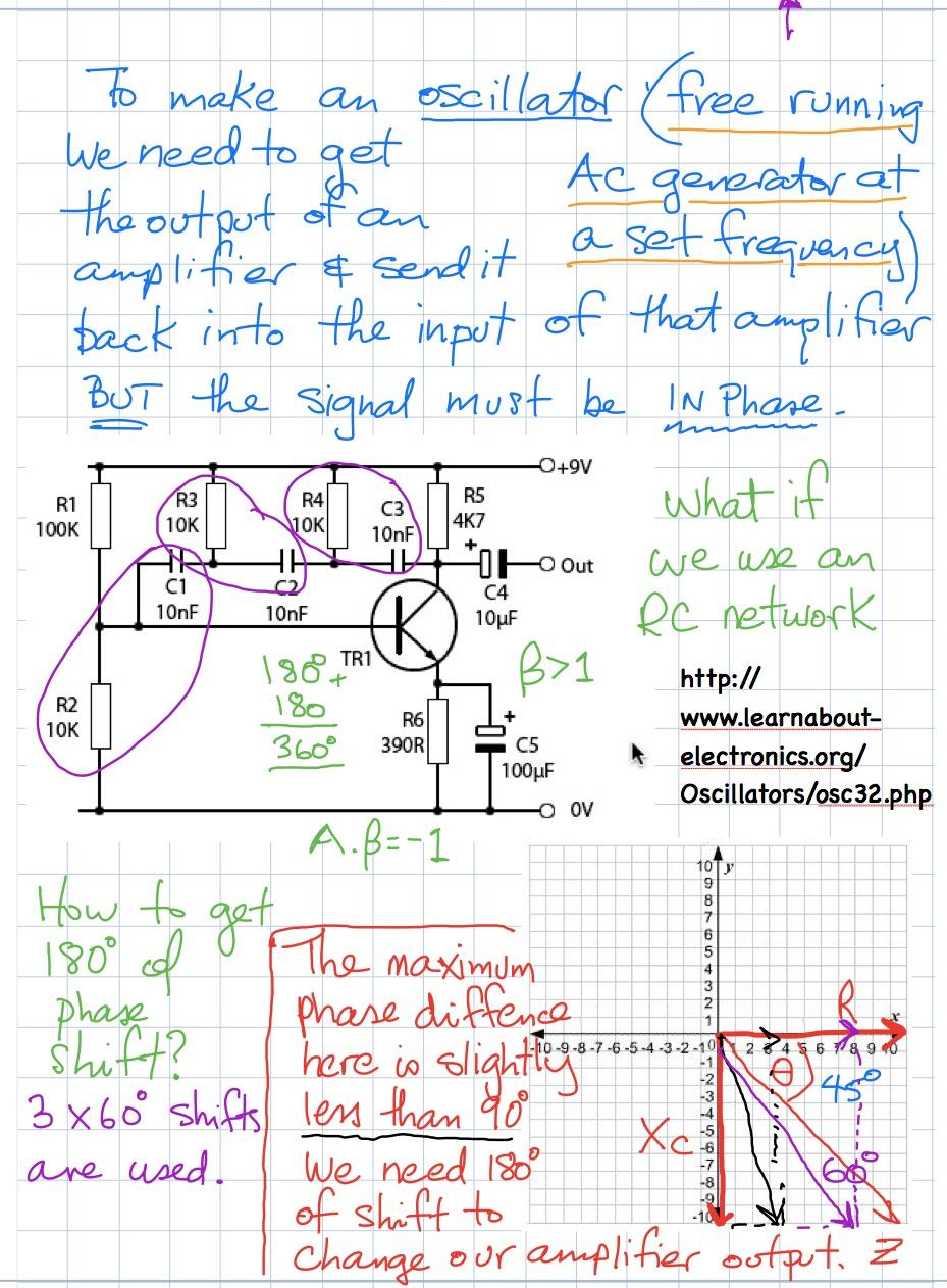 soldering week 3 notes phase shift oscillator