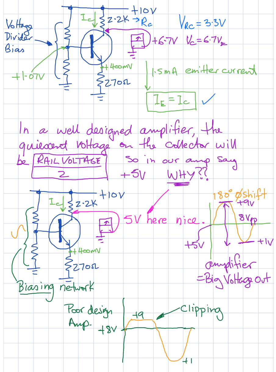 solve probs week 7 Amplifier fault finding part 1b