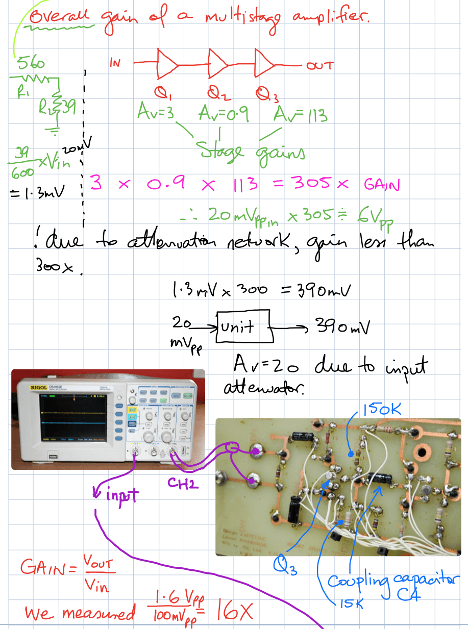 solve probs week 7 Amplifier fault finding part 1d