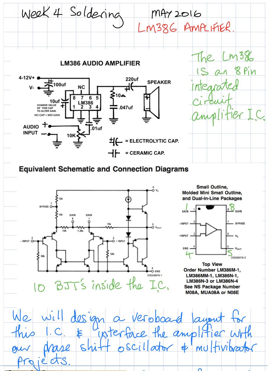 soldering week 4 LM386