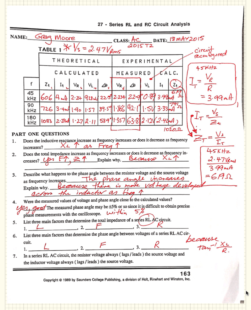 AC week 6 RL series lab results g