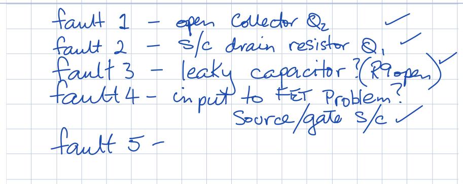 solve probs week 14 Voltage Divider CE Amp faults h