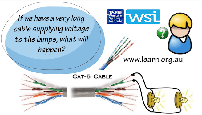 Cat 5 cable voltage drop video finished