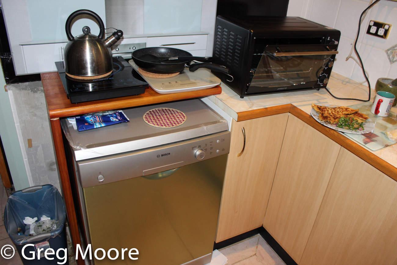 cooktop over dishwasher