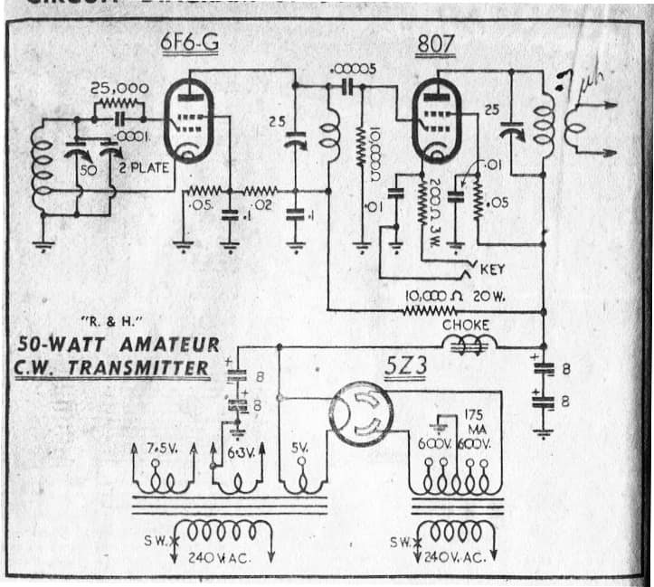 50W Transmitter with Hartley Osc